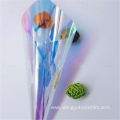 Chill Blue Iridescent Rainbow Flexible PET Packaging Film