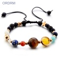 Trendy colorful beaded solar system bracelet
