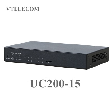 Advanced IP PBX UC200-15 with 60 users, 15 concurrent calls VOIP free PBX