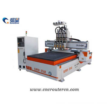 CNC carving machine 4 spindles ATC type