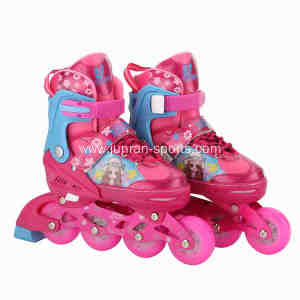 Bright surface inline skates with stitches