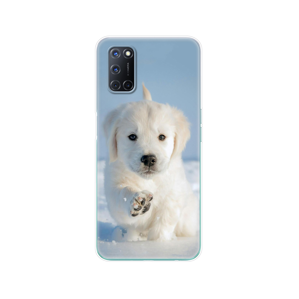 """For OPPO A52 Case A92 A72 Case 6.5"""" Silicon Soft TPU Back Phone Cover For OPPO A 52 72 92 Case Animal Floral Marble Case Bag"""