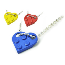 Brick heart necklace for women men egirl eboy couples valentine day gift harajuku style puzzle friendship bff necklace with logo