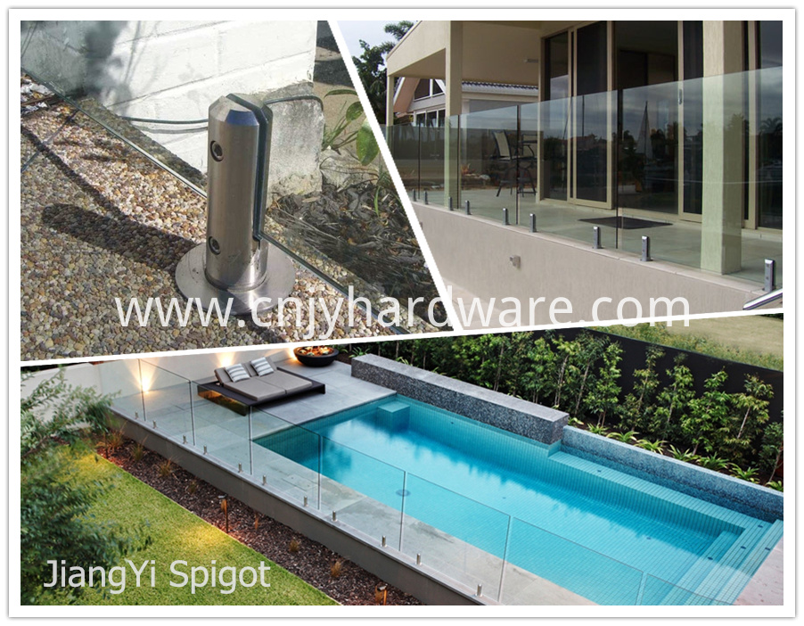Swimming Pool Toughened Spigot Fitting Glass Fence