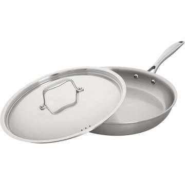 Stainless Steel Fry Pan with Lid