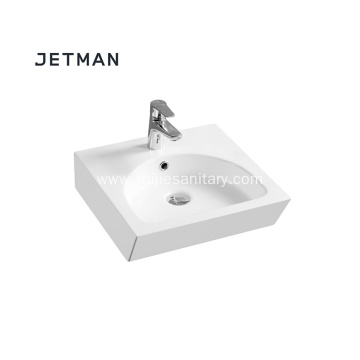 Long lasting white ceramic bathroom hand wash basin