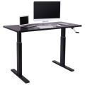 Gray Hand Crank Manual Height Adjustable Standing Desk