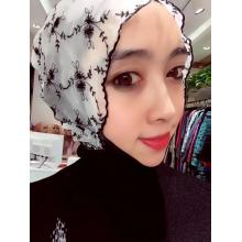 Head scarf in Chinese style with wave edge
