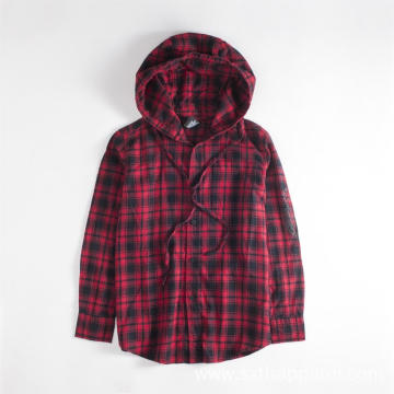 Classic Check Plaid Jacket Shirts Long-sleeve Hoodie Shirt
