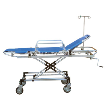 Head Adjustable Hospital Medical Aluminim Rescue Bed