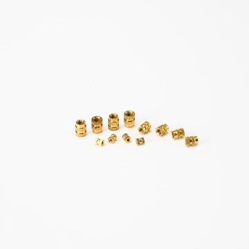 Thread Knurling Round Insert Brass Nuts For Furniture