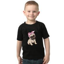 2020 Summer Boys T Shirt Toddler Girl Tees Animal Pug T-shirt for Girls Cotton Children's Tshirts for Boy Child Shirts Kids Tops