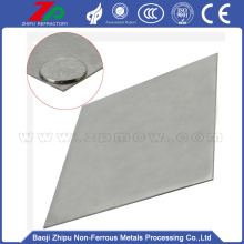 99.95% polished molybdenum plate for sale