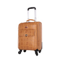 New design waterproof PU travel suitcase