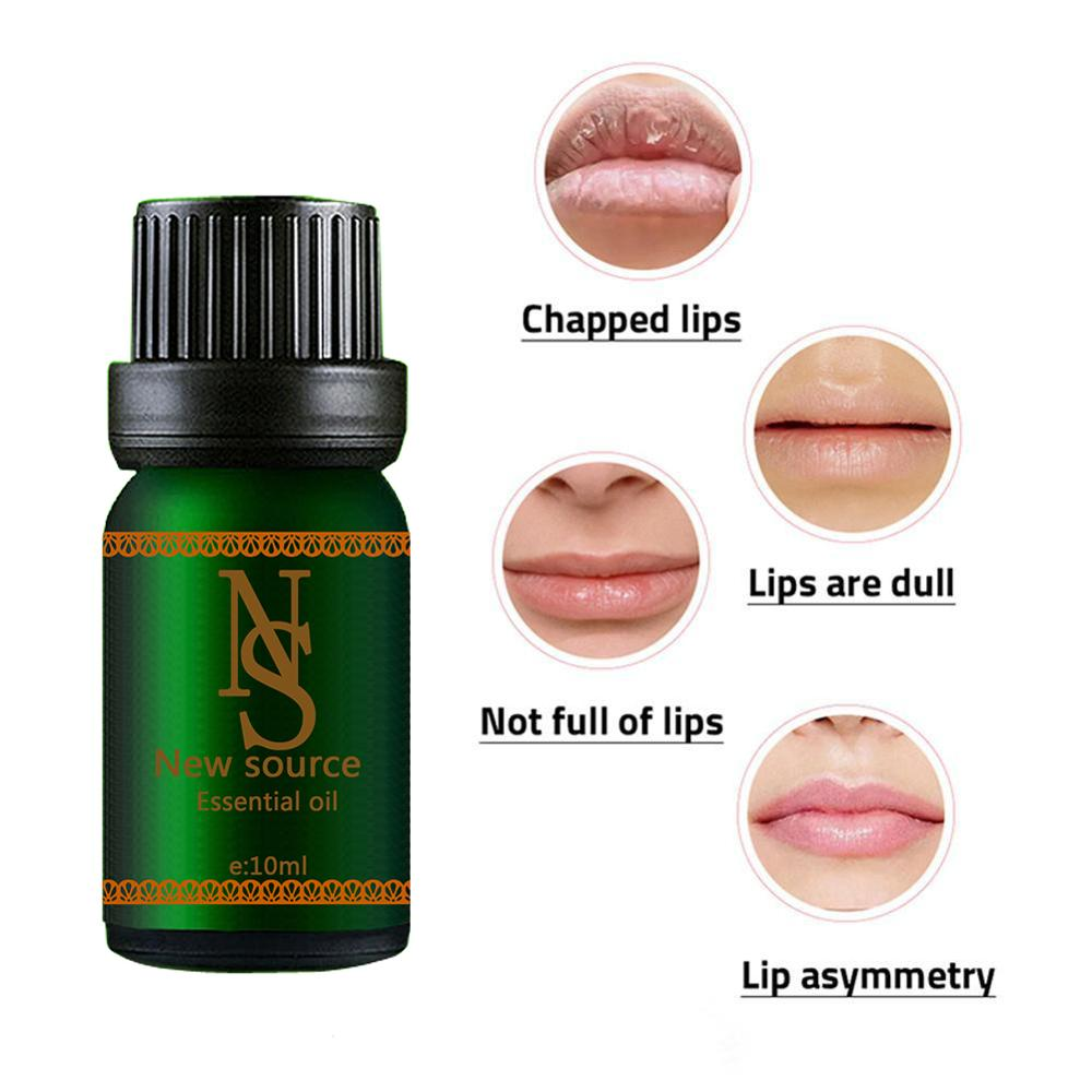 Lip Essential Oil Nutritious Makeup Lips Care Camellia Seed Oil Jojoba Oil Repair Lip Wrinkles Moisturizing Lip Message 10ML