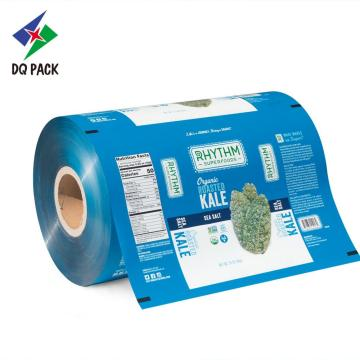 Printed packaging film roll stock snack packaging film