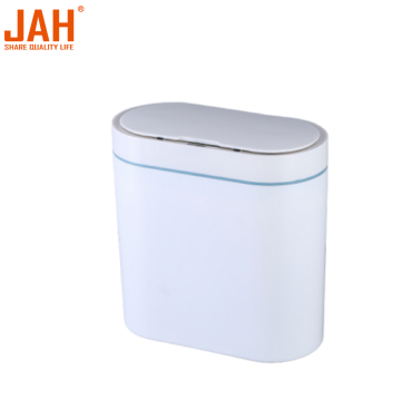 JAH 8L Plastic Oval Waterproof Sensor Trash Bin