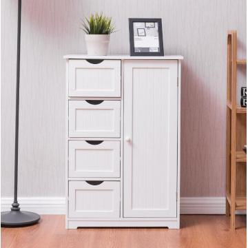 Tall White Bathroom Storage Towel Cabinet