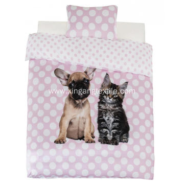 100% Polyester Duvet Covet Dog & Cat Print