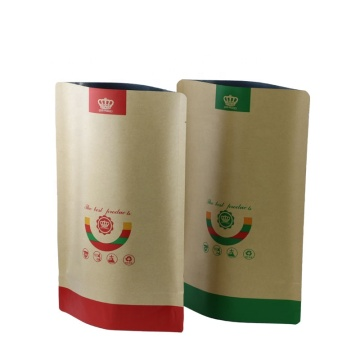 Custom Printing Kraft Paper Packaging Bag with window