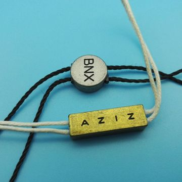 Pure and chromatic exquisite commodity tags with string