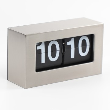 Metal Box Flip Clock for Table and Wall