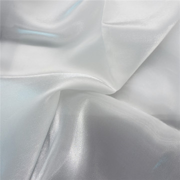 White Silk Organza Tulle Fabric for Wedding Dress