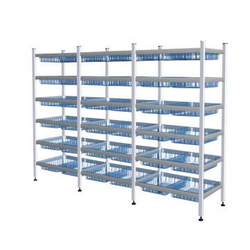 Hospital Aluminum Alloy Adjustable Cartridge Shelving System