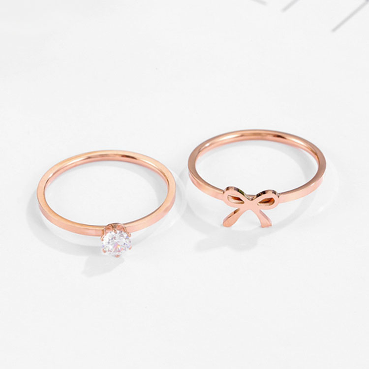 Rose Gold Wedding Ring Set His And Hers