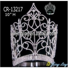 "10"" Wholesale rhinestone custom pageant crowns"