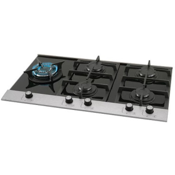 5-Burner Cooktop Black Hobs