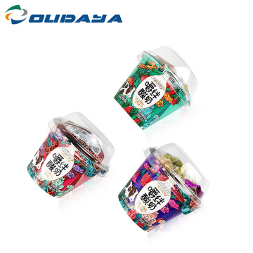 Custom Printing Plastic frozen Yogurt Cup with Lid