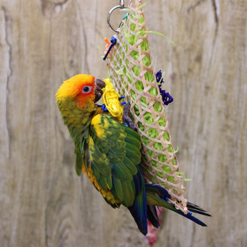 New Misterolina Grass Pet Bird Parrot Swing Cage Toy Foraging Toys Chew Bites For Parakeet Cockatiel Swing Cages Playing Toy
