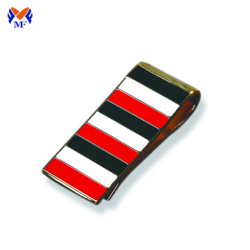 Business gift enamel replica money clip black