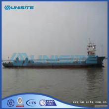 Marine self propelled boat barges
