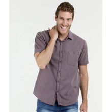 Soft green men's short sleeve formal dress shirt