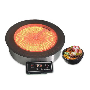 3000W Embedded Radiant Cooker Commercial Single Wire control Hotpot Cooker Electric Ceramic Cooktop Hot Pot Cooking Machine