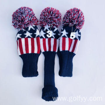 Custom Wooden Golf Knitted Headcover