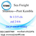 Shantou Port Sea Freight Shipping To Port Kembla