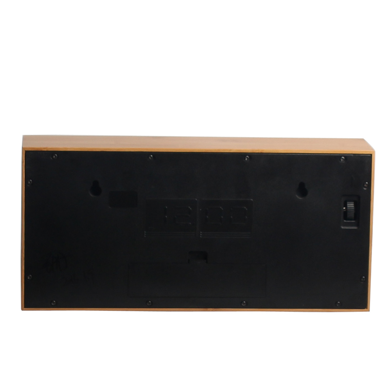 Flip Clock Natural Bamboo