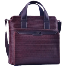 Fashionable unisex dark red briefcase