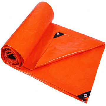 Bâche de protection orange pour chantier de bâche
