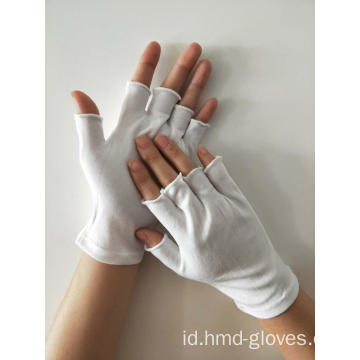 Sarung Tangan Nylon Fingerless White