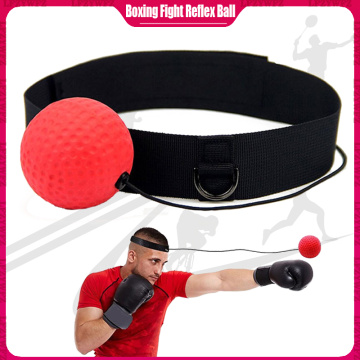 Boxing Fight Reflex Ball Headband Training Boxing Reaction Boxing Ball Head Wear Gym Exercise Training Equipment Improve Reactio