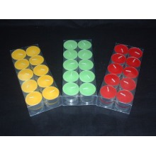 High Quality Handmade Smokeless Colored Tealight Candle