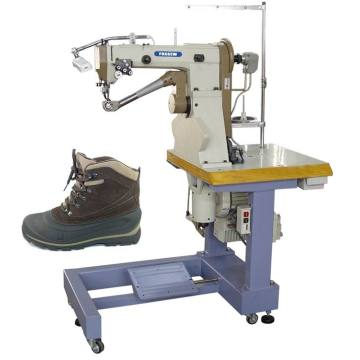 Boots sidewall double thread stitching shoes sewing machine