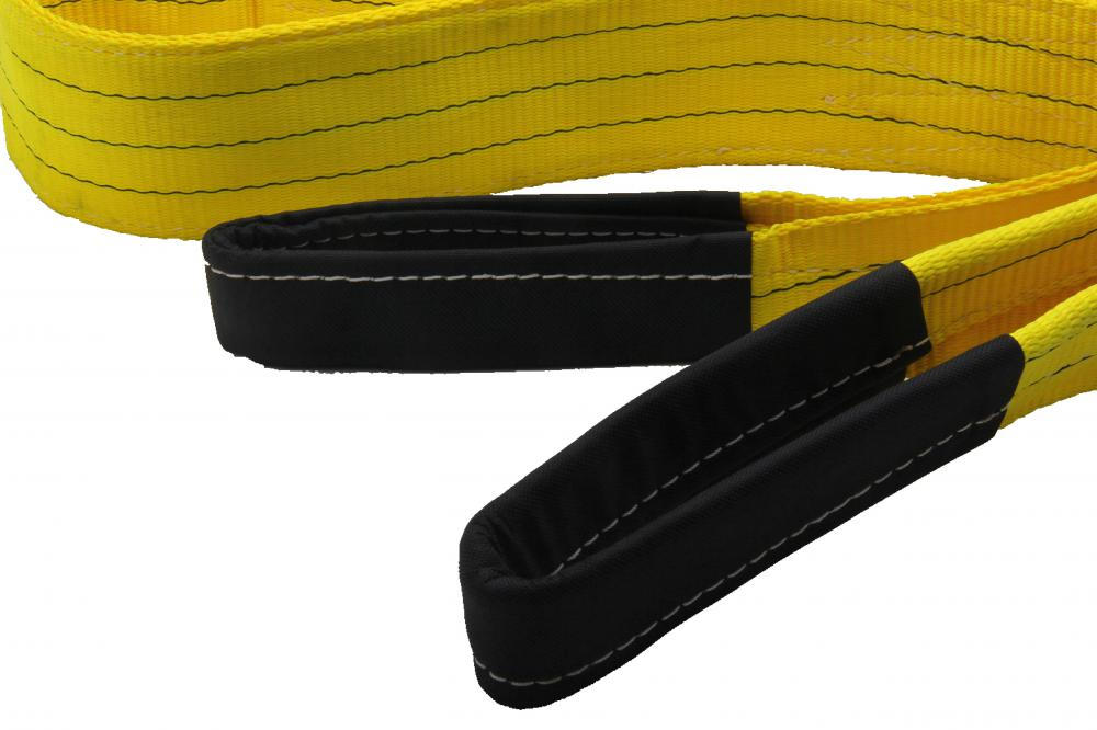 Yellow Color 3T Breaking Strength Polyester Lifting Eye Sling