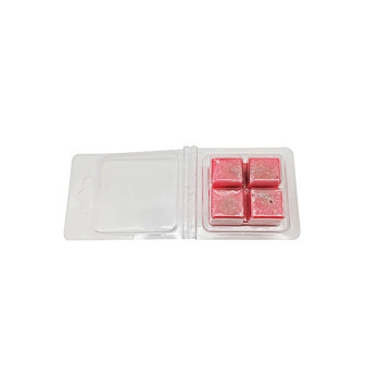 Clear wax melt container plastic blister clamshell packaging