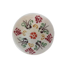 Hand Made Tile Patterned Kaolin Clay Quartz Limestone Bowl 8cm White Colored Old Turkish Pattern Healty Gift