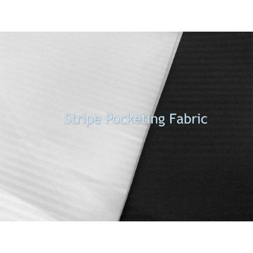 100% Polyster Microfiber Stripe Pocketing Fabric